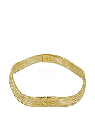 Gold & Diamond Pulsera Flex Amarillo Onda