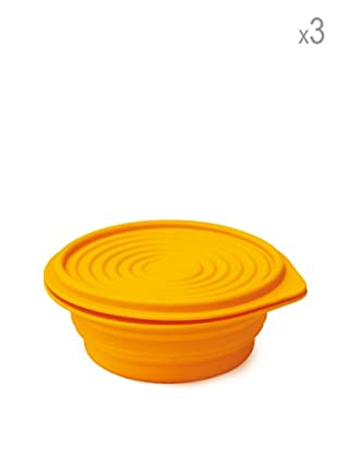 Pavoni Set 3 Envases Ahora Espacio 19 cm Naranja