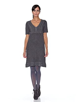 Peace & Love Vestido Liso Tricotosa (gris)