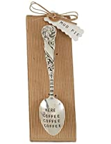 Mud Pie Here Coffee Coffee Spoon, Silver