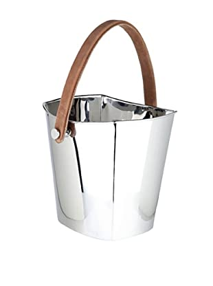 Sidney Marcus Hampton Too Wine Cooler with Leather Handle, Silver