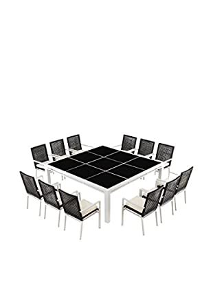 Ceets Ríco 12-Seat Dining Set, Black/White