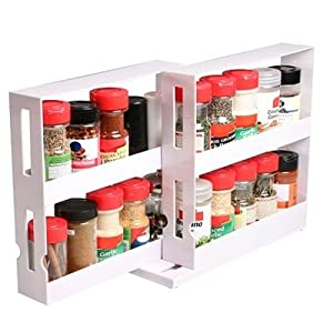 Ideal Home Spice Rack With Free Spice Jars (12 Pc)