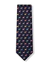 100% Silk Equestrian Horse Blanket Horse Racing Necktie Tie Neckwear