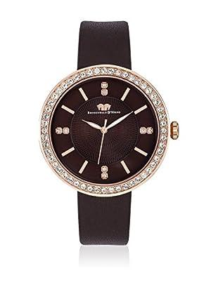 Rhodenwald & Söhne Uhr mit Japanischem Quarzuhrwerk 10010100 schokolade 38  mm