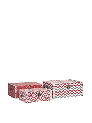 Essentials Canvas Storage Boxes, Coral