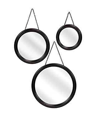 Set of 3 Round Hanging Mirrors
