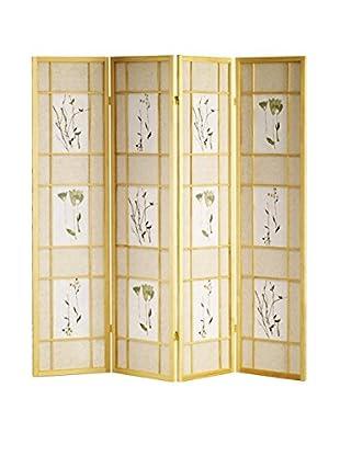 ORE International 4-Panel Shoji Screen, Natural