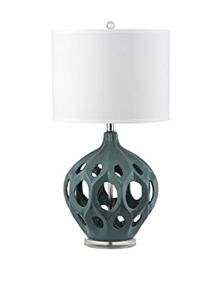 Safavieh Regina Ceramic Table Lamp, Teal