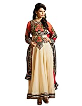 Attrective Designer and Party wear cream Salwar Suit FA234-9003