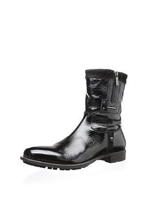Dino Bigioni Men's Side-Zip Boot (Black)