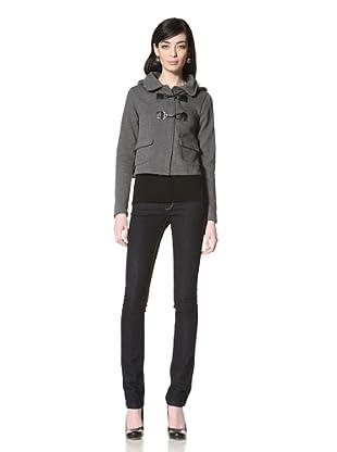 JJ Winter by JJ Basics Women's Cropped Fleece Jacket (Charcoal Heather Grey)