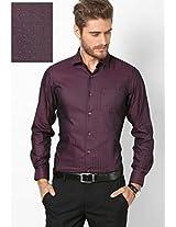 Solid Maroon Formal Shirt