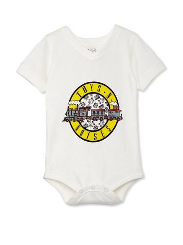 Lil Jokester Baby Toys 'N Noises Short Sleeve Bodysuit (V-Neck White)