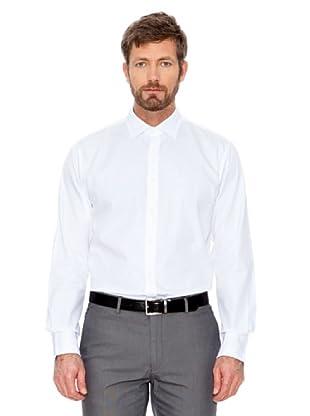 Cortefiel Hemd Feine Streifen (Weiß)