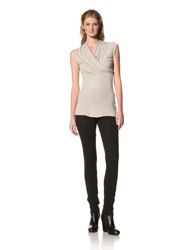 RICK OWENS Women's Sleeveless Cowl Neck Top (Pearl)