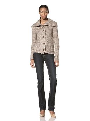 Ainsley Women's Oversized Collar Sweater (Beige)