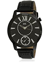 KILLER Black Dial Analogue Watch for Men (KLW237D_New1)