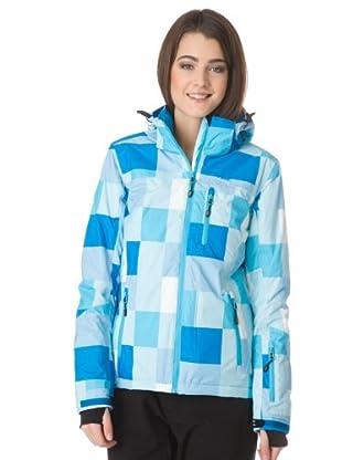 H2O Ski-/Outdoorjacke Nukai (hellblau/blau/weiß kariert)