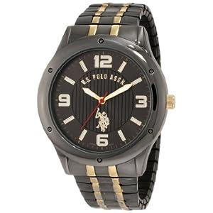 U.S. Polo Assn. Classic Men's USC80193 Horseman Round Case Gun-metal/Gold-tone Expansion Watch