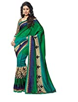 Green Color Art Bhagalpur Silk Saree with Blouse 11318