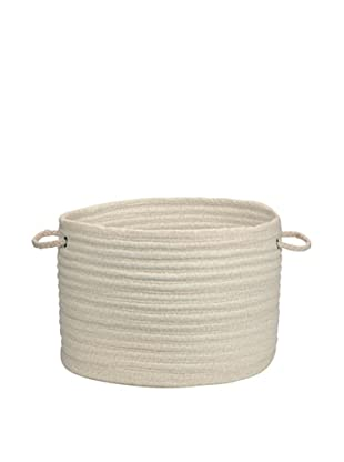 Colonial Mills Solid Fabric Print Basket (Cream)