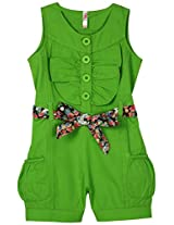 Oye Girls Sleeveless Romper With Belt