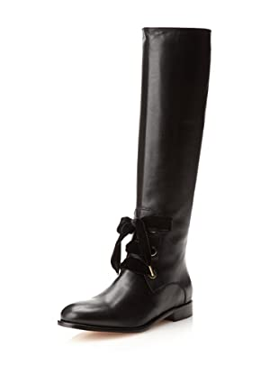 Red Valentino Women's Lace-Up Boot (Black)