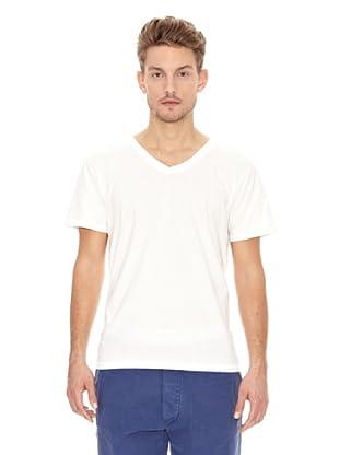 Nudie Jeans Camiseta Cuello Pico (Blanco)