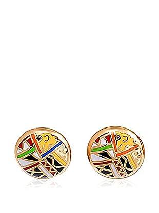 ROSE SALOME JEWELS Ohrringe GE017L vergoldeter Stahl 18 Karat