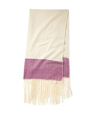 Mili Designs Women's Marrakesh Cotton Scarf (Cream/Fuchsia)