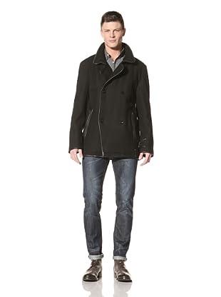 Fremont Men's Manor Double-Breasted Coat (Black)