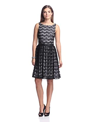 Alexia Admor Women's Sleeveless Lace Dress (Black/White)