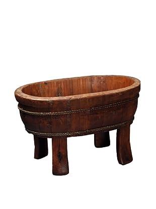 Antique Revival Wooden Vegetable Sink, Natural