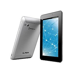 Lava Etab Tablet (7 inch, 4GB, Wi-Fi+3G+Voice Calling), Silver