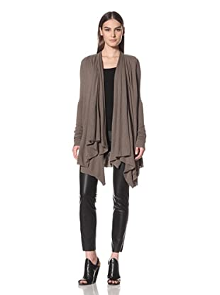 Rick Owens Liles Women's Extended Sleeve Draped Cardigan (Dna Dust)