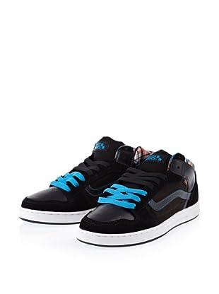 Vans Edgemont VNJ609O Herren Sneaker (Schwarz ((Plaid) black/blue))