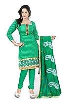 Livaaz Womens Cotton Unstitched Dress Material (Sf100528 _Green)
