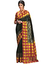 Abida Printed Black Color Bhagalpuri Art Silk Saree