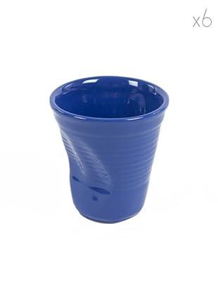 Kaleidos Set 6 Tazze Cappuccino (Blu)