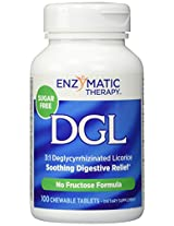 Enzymatic Therapy, DGL, Deglycyrrhizinated Licorice, Fructose Free/Sugarless, 100 Chewable Tablets