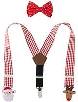 Mud Pie Baby-Boys Newborn Felt Icon Suspenders and Bow Tie Set, Multi, One Size