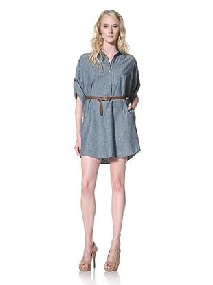 Trovata Women's Francie Shirt Dress (Blue Chambray)