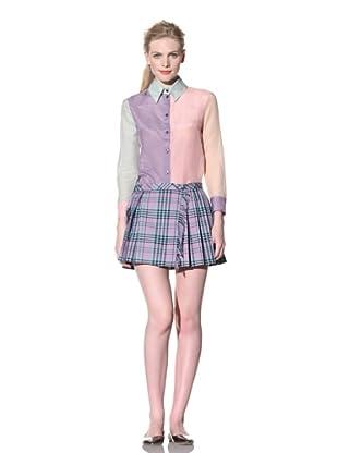House of Holland Women's Long Sleeve Colorblock Shirt (Multi)