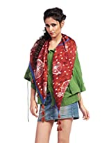 Red Riding Women's Scarf (SCAVISS15804_Multi-Coloured_Free Size)