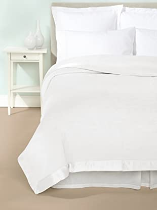 Mélange Home Chelsea Silk-Blend Blanket (White)