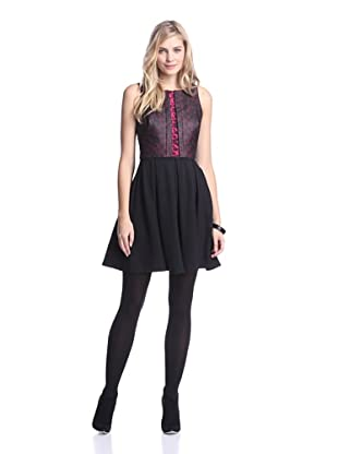 Eva Franco Women's Regina Dress (Fuchsia Lattice)