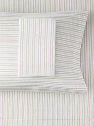 Nautica Wide Stripe Sheet Set (Pink/Green)