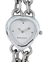 Miss Sixty Analog White Dial Women's Watch - J5001