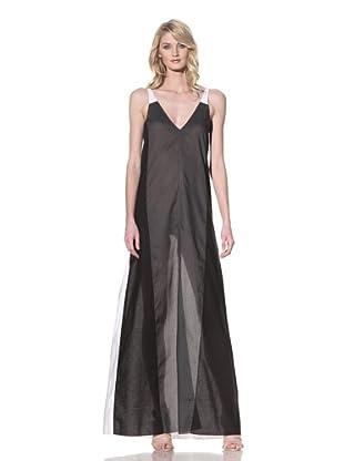 MARNI Women's Long Poplin V-Neck Dress (White Sodio)